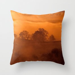 Fog 12 Throw Pillow