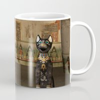 egypt Mugs featuring Egypt temple  by nicky2342