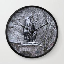 Tennyson in the Snow Wall Clock