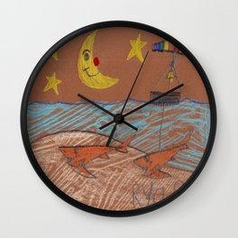 Cookie Cutter Sharks Wall Clock