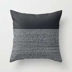 Riverside (Black) Throw Pillow