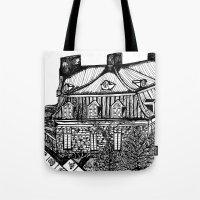 copenhagen Tote Bags featuring Copenhagen by intermittentdreamscapes