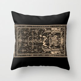 Sala Tumba de Pakal Throw Pillow