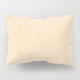 Beige Squares Concentric Polygons Pillow Sham