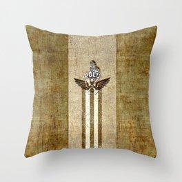 poloplayer golden_ocher Throw Pillow