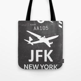 JFK Airport code New York USA Tote Bag