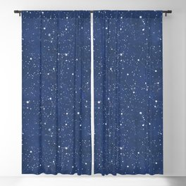 Starry Night Pattern Blackout Curtain