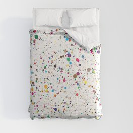 80s RAINBOW SPLATTER PAINT PATTERN Comforters