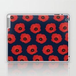 Imagine Poppies - Indigo Background Laptop & iPad Skin