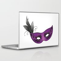 majoras mask Laptop & iPad Skins featuring mask by Li-Bro