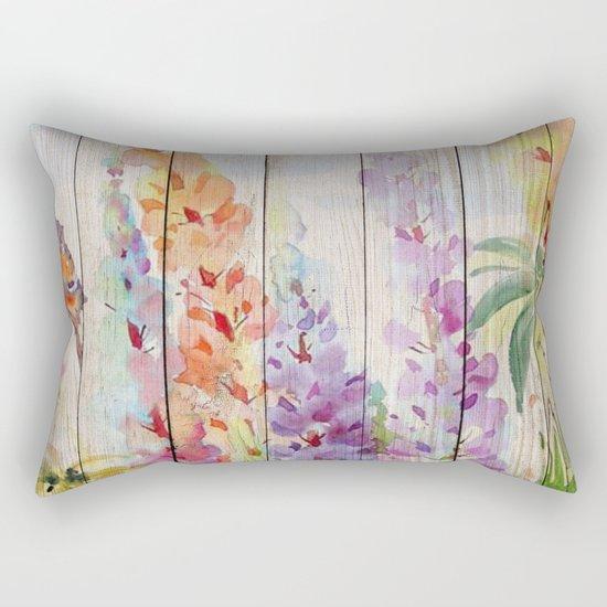 Spring on Wood 03 Rectangular Pillow