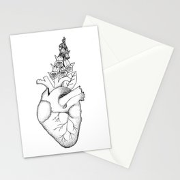 Digitalis II (black on white) Stationery Cards