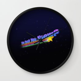 The Fuck You Know Wall Clock