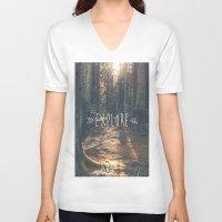 explore V-neck T-shirts featuring Explore by grafik ' prod