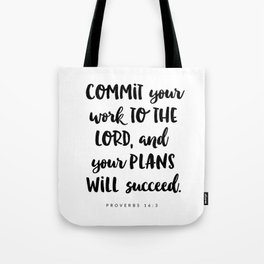 Proverbs 16:3 - Bible Verse Tote Bag