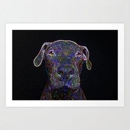 Cosmic pittbull Art Print
