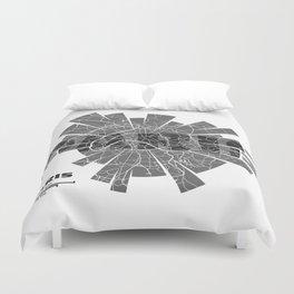 Paris Map Duvet Cover