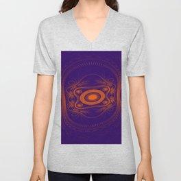 Steampunk fractal art Unisex V-Neck