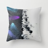 borderlands Throw Pillows featuring Borderlands by Julie Maxwell