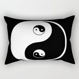 Ying yang the symbol of harmony and balance- good and evil Rectangular Pillow