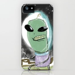 Space Alien iPhone Case