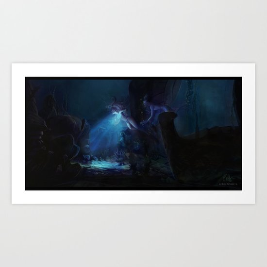 The Heart of  Atlantis Art Print
