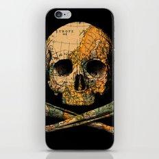 Treasure Map Skull Wanderlust Europe iPhone & iPod Skin