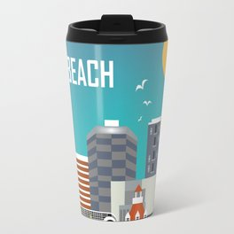 Long Beach, California - Skyline Illustration by Loose Petals Travel Mug