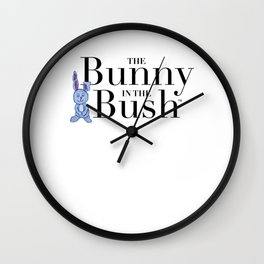 The Bunny in the Bush Wall Clock
