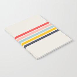 Naomori - Classic Minimal Retro Stripes Notebook