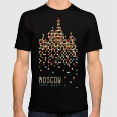 Moscow Never Sleeps Black MEDIUM Mens Fitted Tee