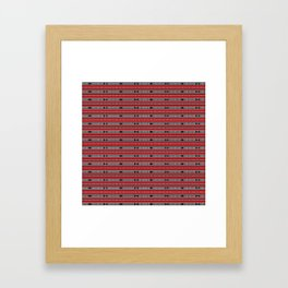 ethnic weave horizontal red Framed Art Print
