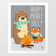 Happy Merry Jolly Art Print