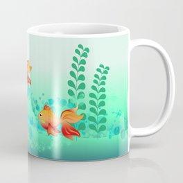 Goldfish in a blue ocean Coffee Mug