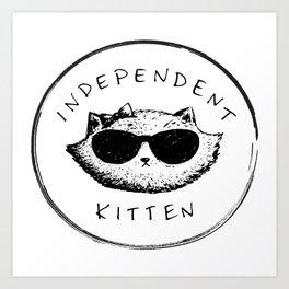 Independent Kitten Art Print