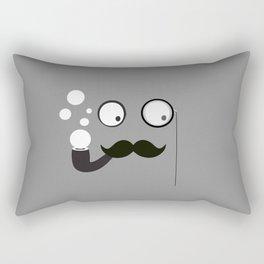 Professor Mustache Rectangular Pillow