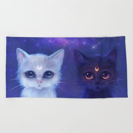 Guardian Cats Beach Towel