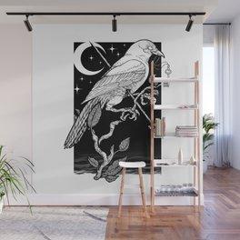 Night Crow Wall Mural