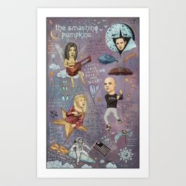 The Pumpkins - Spaceboy's Mellon Collie Dream Art Print