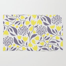 Yellow florals rugs society6 yellow flowers field rug mightylinksfo