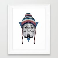 moustache Framed Art Prints featuring Moustache by Document