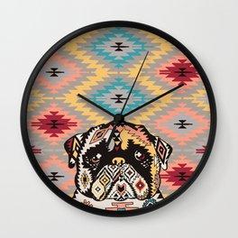 PUG Kilim Wall Clock