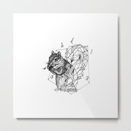 Geometric Season1:4 Squirrel Metal Print