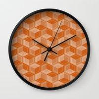 escher Wall Clocks featuring Escher #003 by rob art | simple