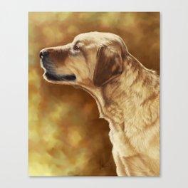 Golden Labrador Painting Portrait Canvas Print