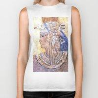 egyptian Biker Tanks featuring Egyptian Queen by Brian Raggatt