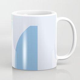 Strange feeling on blue background Coffee Mug