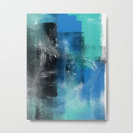Abstract Blue Azur Metal Print
