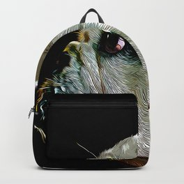 english bulldog dog vector art Backpack