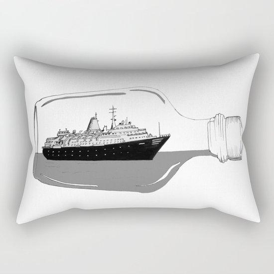ship in a bottle Rectangular Pillow